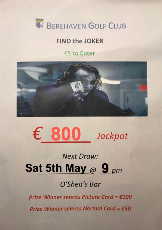 joker 5th may 18